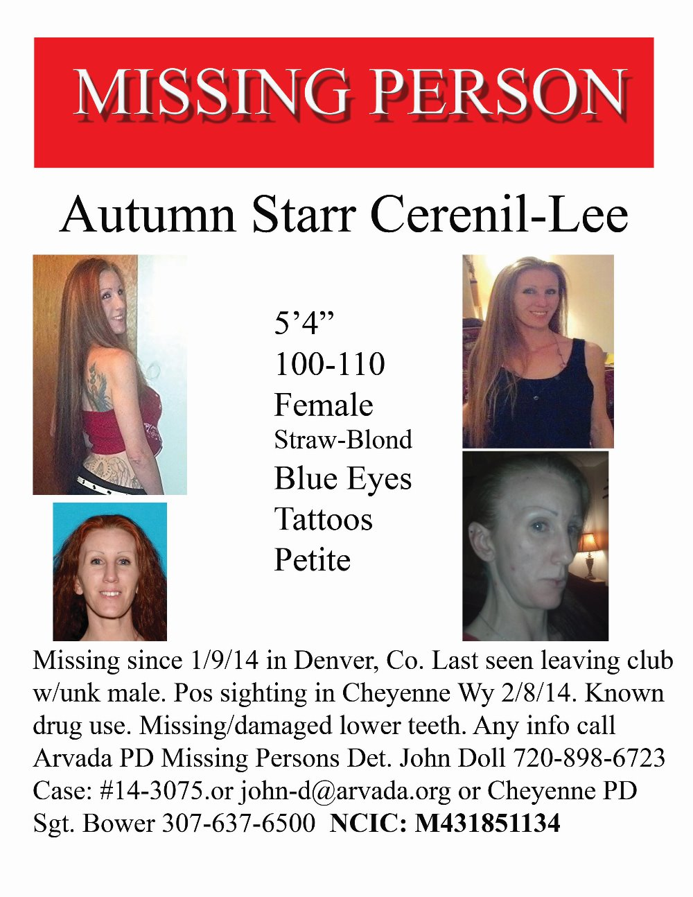 Fundraiser by Gigi Bannister AUTUMN LEAVESMissing Person Search – Missing Person Flyer