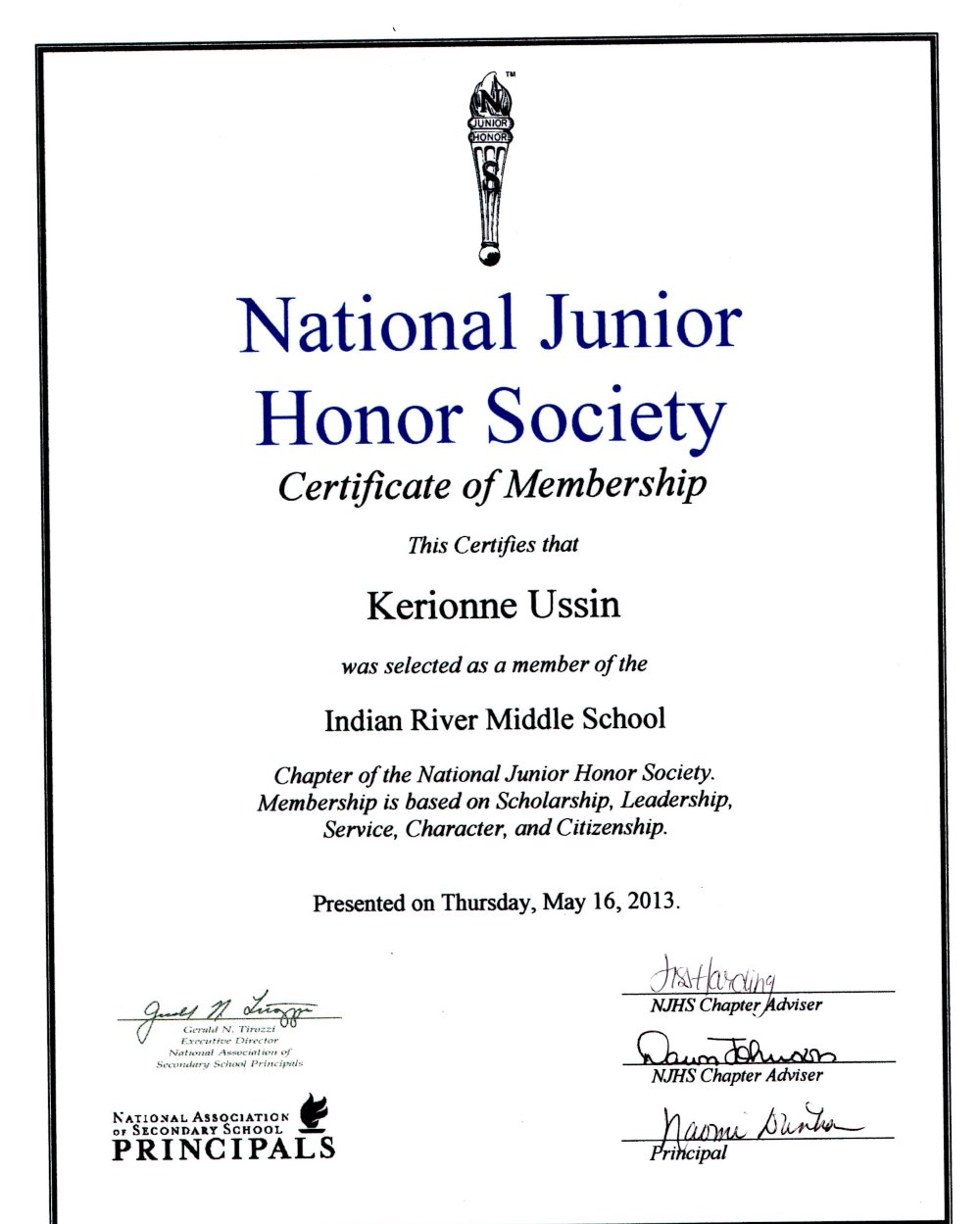 sample national honor society essay