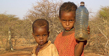African Children In Need Of Water